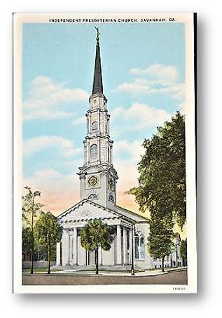 Independent Presbyterian Church Savannah Ga Circa 1920s