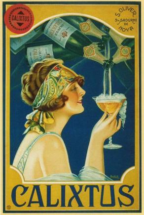 1920s Champagne ad Calixtus