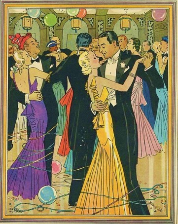 1920s Illustration of Party