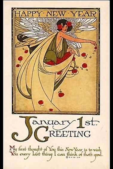 1920s New Year Card