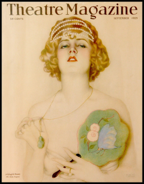 1925 Theatre Magazine jade necklace jewelry