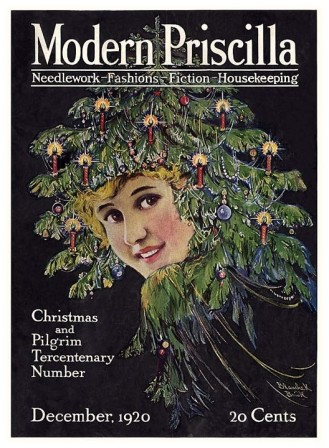 Christmas tree hat Modern Pricilla December 1920