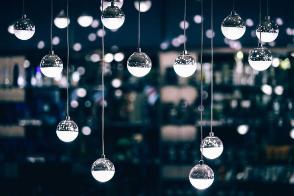 Light ball ornaments Unsplash