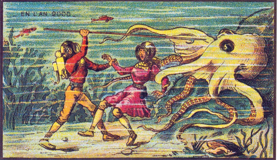 Sea Monster man woman Jean-Marc Côté 1900