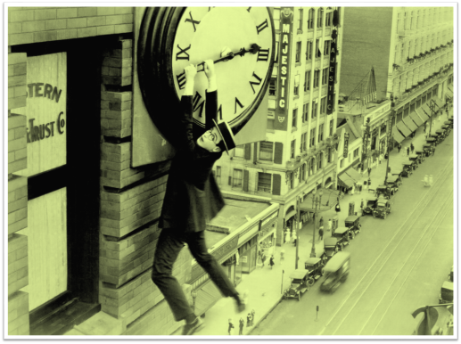 1923 Harold Lloyd Safety Last clock