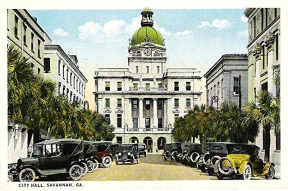 City Hall Savannah 1920s