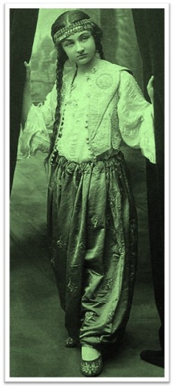 Durrusehvar, daughter of the last Caliph of the Ottoman dynasty, circa 1920
