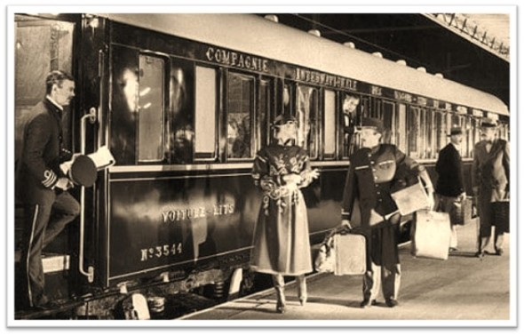 Train woman porters packages