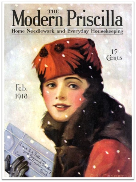 1918_Feb Modern Priscilla girl package snow