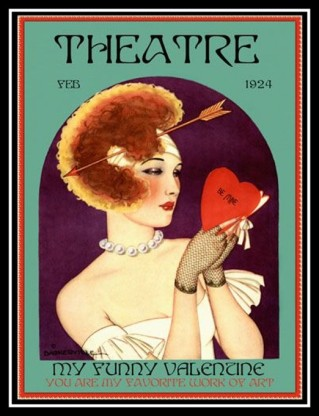 1924 Feb_Theatre woman arrow heart Valentine