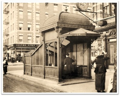 1900s Manhattan Subway Entrance