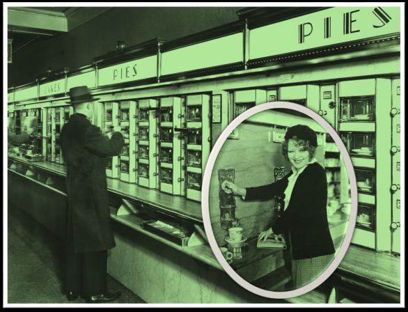 Automat Clara Bow and man mix