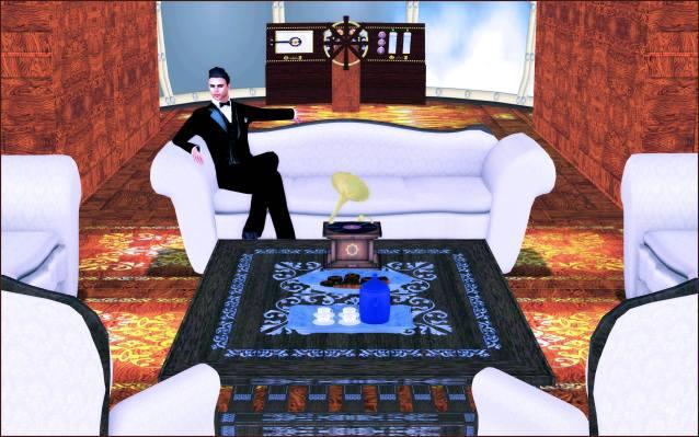 Interior Train control console Valentino victrola sofas
