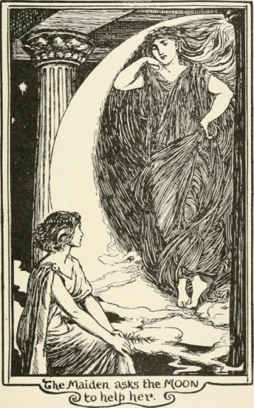 Maiden and Moon_The Pink Fairy Book_1897_Andrew Lang artist unknown