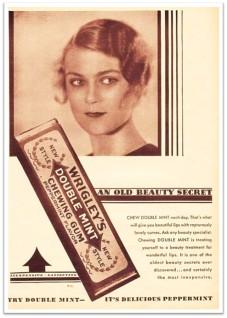 Doublemint gum ad 1930 flapper