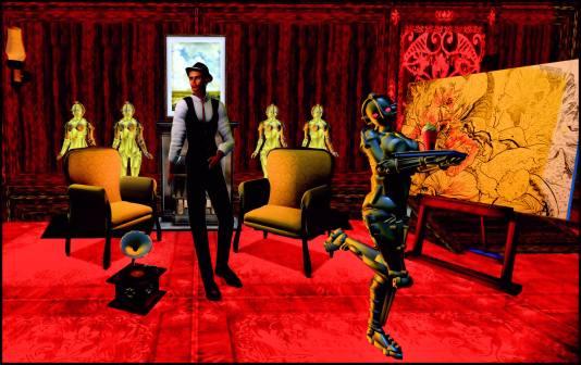 Valentino many bots painting red