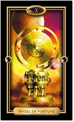Wheel of Fortune Gilded Tarot