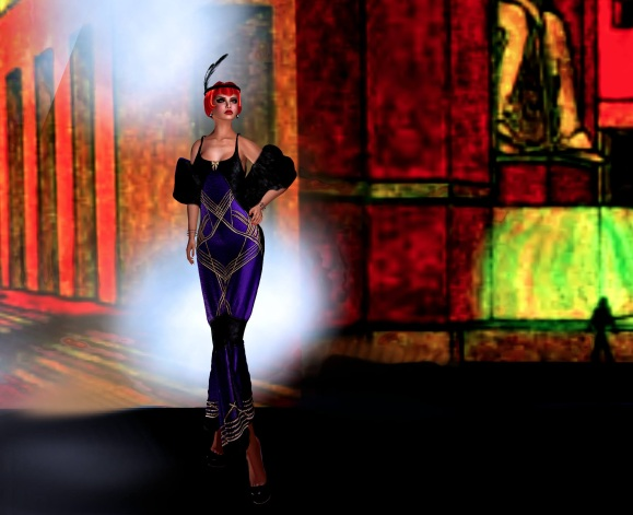 Lulu Purple gown Toward Egypt 2