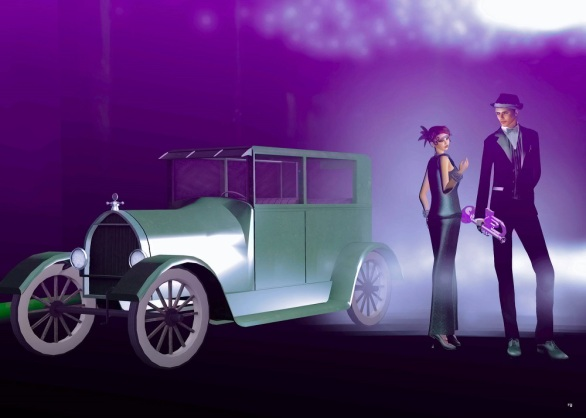 Val and LuLu green car purple bk