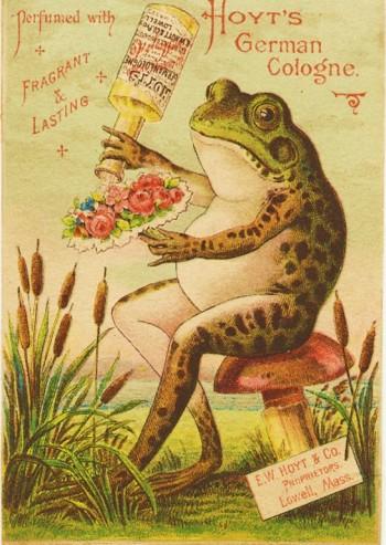 Frog Hoyt Cologne ad 1900 wiki