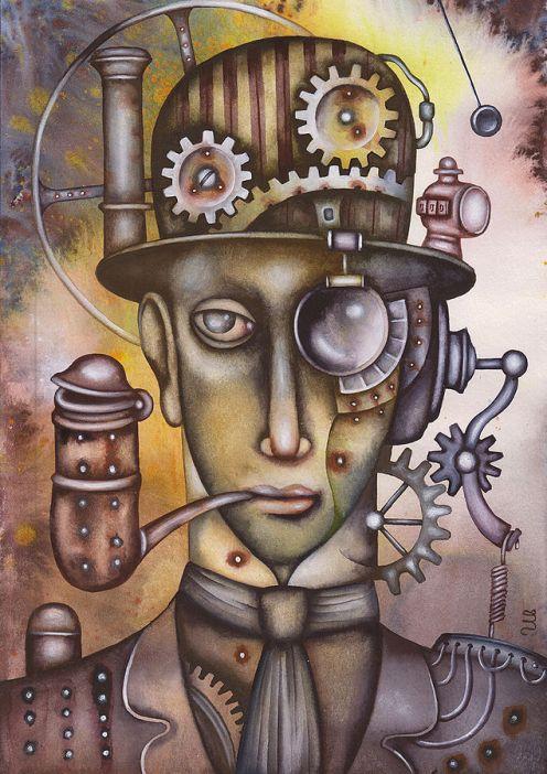 Steampunk Man pipe-Eugene_Ivanov_2431