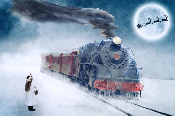 Locomotive Christmas Pixabay
