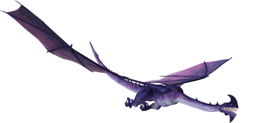 Purple one horned dragon