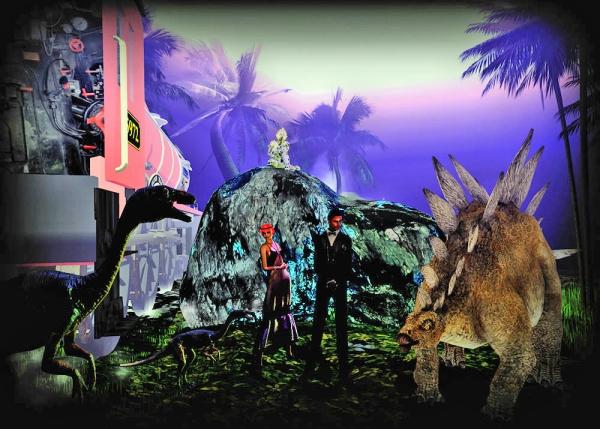 Exploring-With Valentino Lulu dinosaurs