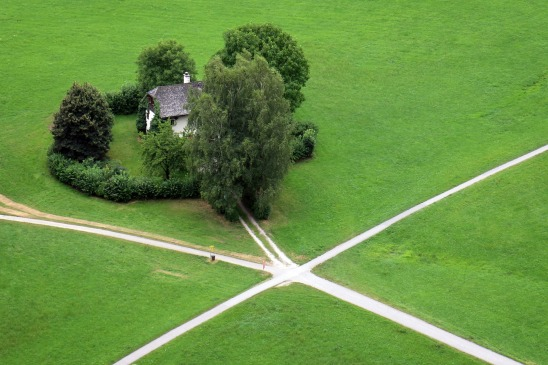 House at a crossroads