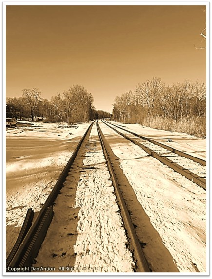 BW Railroad Tracks Snow Dan Antion