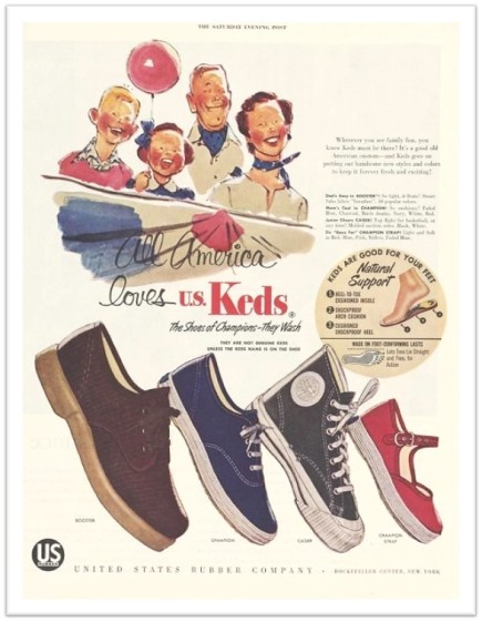 Keds Ad circa 1950s
