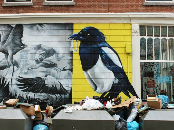 Magpie wall mural by marina-salles