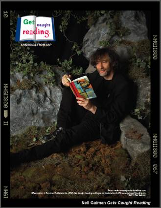Author Neil Gaiman for Get Caught Reading