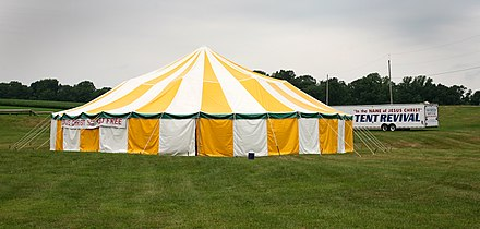 Revival Tent in Pennsylvania, Wikipedia