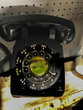 Vintage rotary phone, photo by Dan Antion