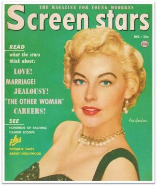 1952 Screen Stars magazine, Ava Gardner