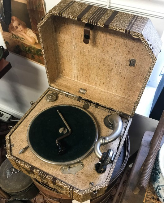Vintage portable record player, by Dan Antion