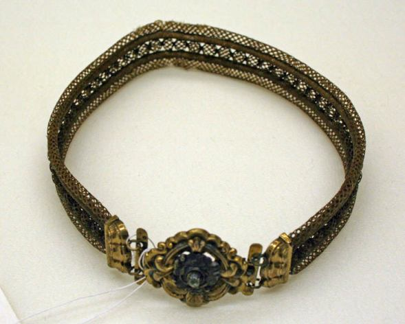 Bracelet made of human hair, circa 1840. Wikimedia Commons