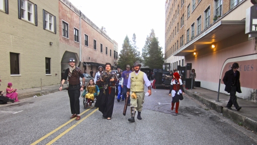 Lafayette Louisiana. Steampunk Festival people walking Wikimedia