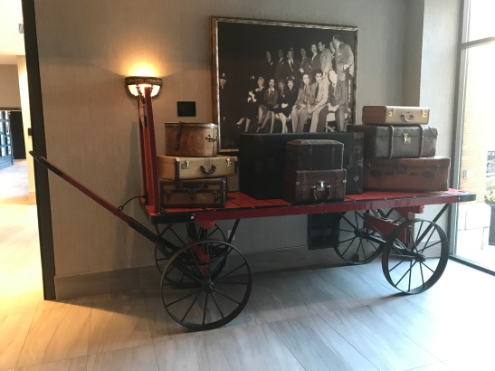 Vintage luggage cart Dan Antion