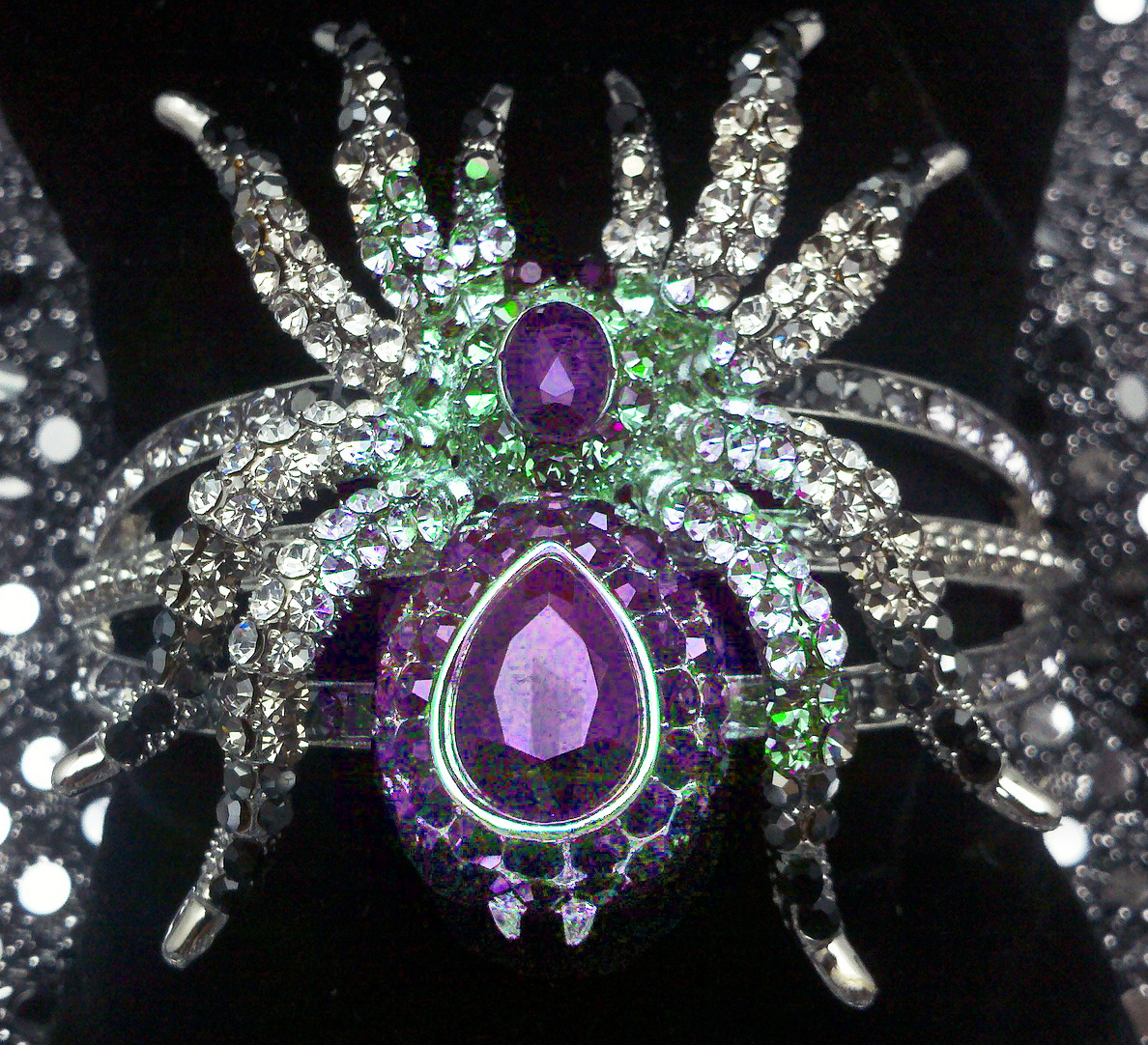 Altered Spider jewelry pin Starbright Pixabay