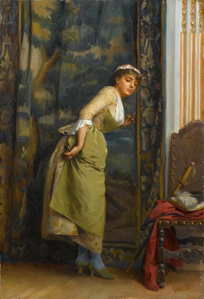 Eavesdropping, Théodore Ralli 1880, Wikimedia
