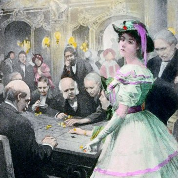 """Gwendolen at the roulette table"" 1910 illustration to George Eliots Daniel Deronda altered by Teagan"