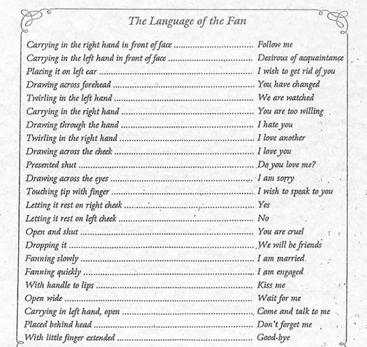 The Language of Fans by Duvellroy