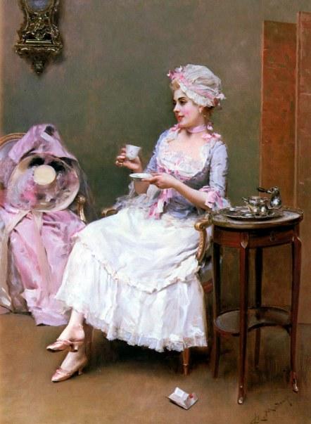 Aline Masson drinking Hot Chocolate Raimundo de Madrazo y Garreta Wikipedia