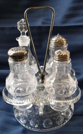 Antique crystal cruet set c 1930s Wikipedia