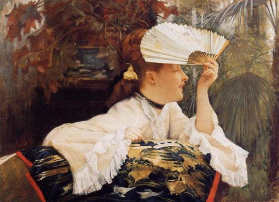 James_Tissot_The_Fan 1875 Wikipedia