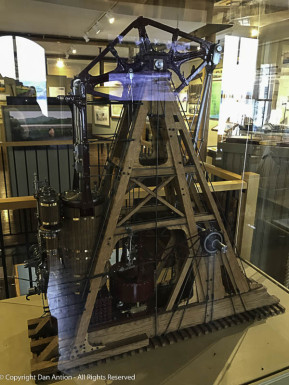 Walking beam steam engine model CT Maritime Museum Dan Antion
