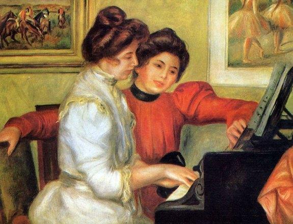 Yvonne et Christine Lerolle au piano Pierre Auguste Renoir 1897 Wikipedia