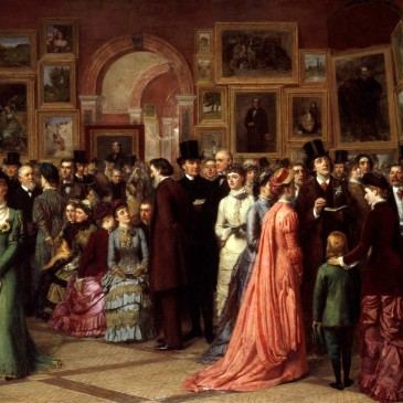 A Private View at the Royal Academy (1883) by William Powell Frith